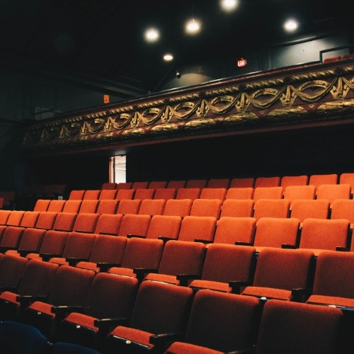 View of seats on main level and balcony